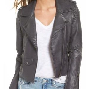 Blank NYC gray leather jacket